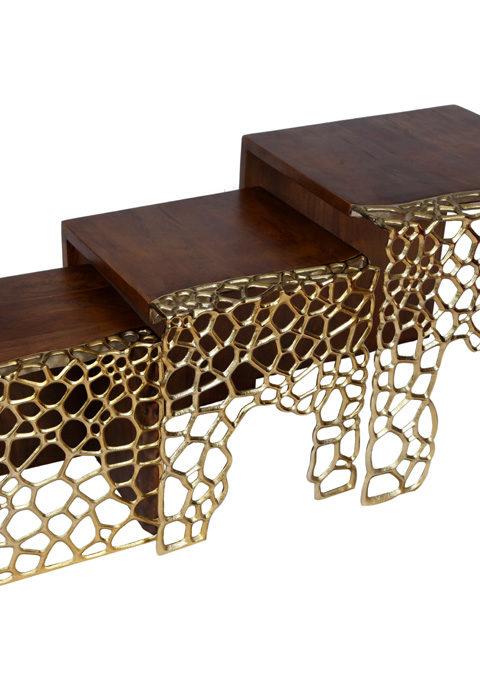 Side table for bedroom, furniture, wood furniture, wooden tables, golden wood work,
